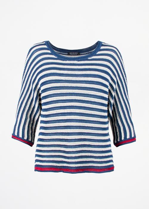 Stripe Blue White
