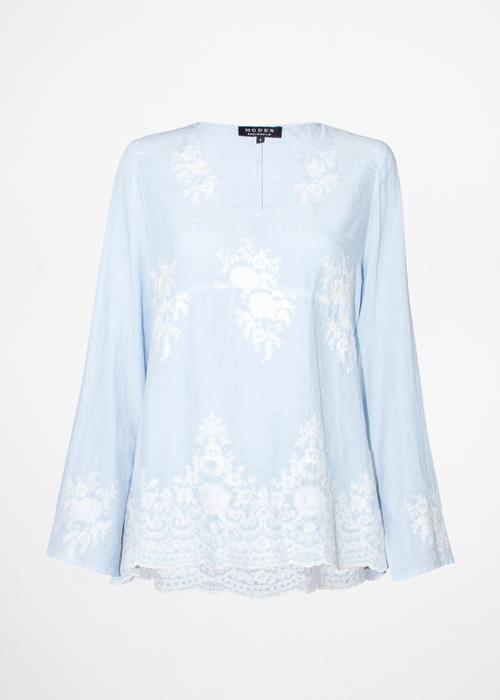 Maya Embroidery Blue