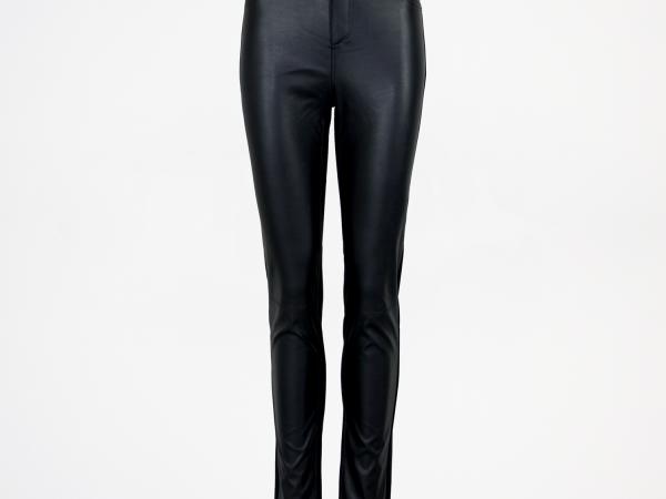 Jenny Black Leather Jersey